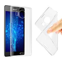 Чехол силиконовый для Nokia Lumia 950 XL ультратонкий прозрачный (нокиа люмия 950 икс л)