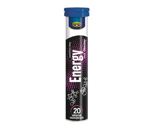 Витамины растворимые шипучие Kruger Energy - 20 таблеток
