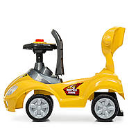 Каталка-толокар M 4205-6 желтый с родительской ручкой Гарантия качества Быстрая доставка, фото 6
