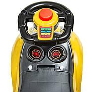 Каталка-толокар M 4205-6 желтый с родительской ручкой Гарантия качества Быстрая доставка, фото 9
