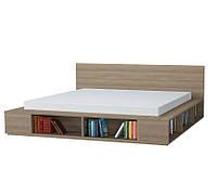 Кровать 160-180х200-210 двуспальная Честер 2 , кровать подиум с местами полками для хранения