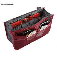 """Сумка органайзер """"Хейли"""", для организации и удобного хранения нужных вещей. бордовый"""