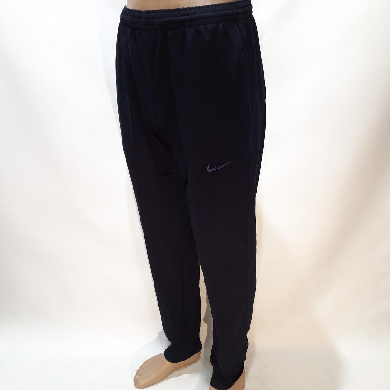 Мужские осенние спортивные штаны на манжете хлопок Турция 46 48 50 52 54 Черный