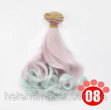 Кудрявые волосы трессы для кукол 15 см * 100 см.