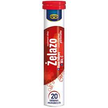 Витамины растворимые Kruger Zelazo + Kwas foliowy + Vitamin C, без сахара, 90г