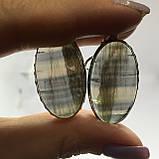 Флюорит серьги с натуральным флюоритом в серебре Индия, фото 4