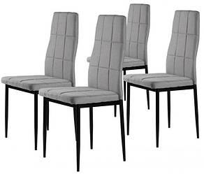 Стулья кухонные набор 4 шт Homart TCM-005GC текстиль серый (9297)