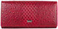 Превосходный женский  кошелек из натуральной кожи LAS FERO (ЛАС ФЕРО) MISS178050-red (красный)