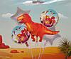 Набор фольгированных шаров Динозавры (5 шт. в уп.)