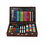 Детский набор для рисования в чемоданчике 123 предмета , большой художественный набор для рисования, фото 3