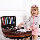 Детский набор для рисования в чемоданчике 123 предмета , большой художественный набор для рисования, фото 5