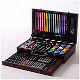 Детский набор для рисования в чемоданчике 123 предмета , большой художественный набор для рисования, фото 6