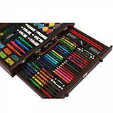 Детский набор для рисования в чемоданчике 123 предмета , большой художественный набор для рисования, фото 7