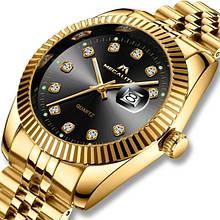 Годинники чоловічі кварцові MegaLith 0038M, колір золото з чорним циферблатом ( код: IBW317YB )