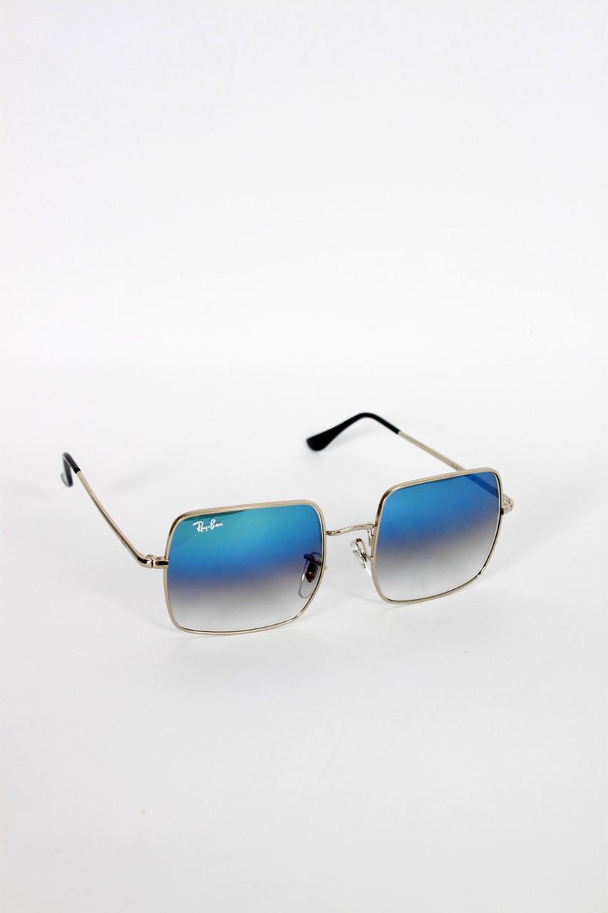 Очки имиджевые квадратные  RB1971  синие Общая ширина 14(см)/ Высота линзы 5(см)/ Ширина линзы 5.5(см).