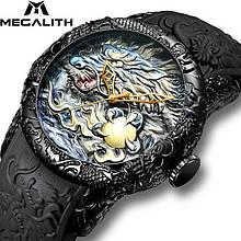 Годинники чоловічі кварцові MegaLith 8041, колір чорний ( код: IBW353B1 )