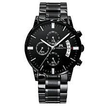 Годинники чоловічі наручні MegaLith Super, колір чорний ( код: )