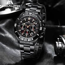 Годинники чоловічі наручні MegaLith 8206, колір чорний ( код: IBW359B )
