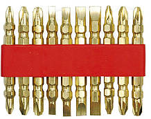 Набір двустор. біт у тримачі-GOLD 10 шт Vorel 66112