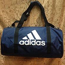 Спортивная сумка-цилиндр Adidas, Адидас синяя с белым ( код: IBS042Z )