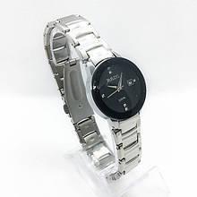 Часы женские наручные Рado, цвет серебро черный циферблат ( код: IBW284SB )