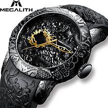 Годинники чоловічі кварцові MegaLith 8041, колір чорний ( код: IBW353B2 )