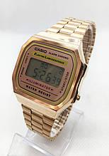 Часы мужские наручные электронные CASIO (Касио), золотистые ( код: IBW413Y1 )