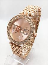 Часы женские наручные в стиле TOUS (Тоус), золотистые ( код: IBW414Y )