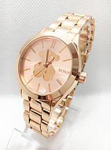 Часы женские наручные в стиле TOUS (Тоус), золотистые ( код: IBW415Y )