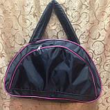 Спортивная сумка для фитнеса Adidas, Адидас черная с розовым ( код: IBS025BP ), фото 3