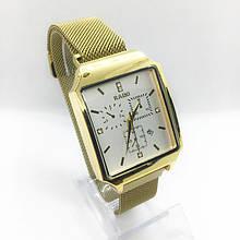 Часы женские наручные Рado, золото с белым циферблатом ( код: IBW306YO )