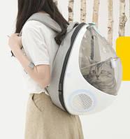 Рюкзак-переноска и лежак 2в1 Purrpy для домашних животных (кошек, собак, кроликов, птиц), ( код: IBH011O )