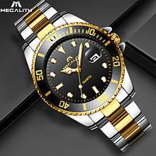 Годинники чоловічі наручні MegaLith 0037M, колір срібло з золотом ( код: IBW357SYB )