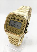 Часы мужские наручные электронные CASIO (Касио), золотистые ( код: IBW413Y )