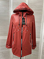 Демисезонная женская куртка на осень-весну больших размеров