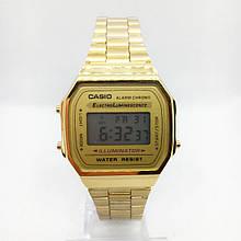 Часы мужские наручные электронные CASIO ОРИГИНАЛ (Касио), золотистые ( код: IBW413Y2 )