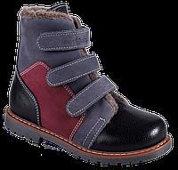 Ортопедические зимние ботинки для ребенка 06-713 р-р. 31-36, фото 1