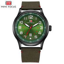 Часы мужские кварцевые MINI FOCUS MF0166G, цвет зеленый ( код: IBW322G )