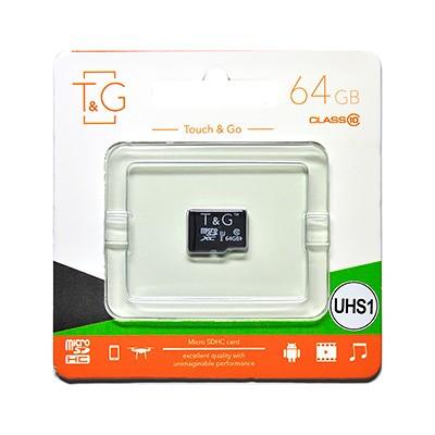 Карта пам яти microSDHC (UHS-1) 64GB class 10 T&G