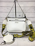 Женская сумка Zara (Зара), белая ( код: IBG214O ), фото 2