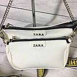 Женская сумка Zara (Зара), белая ( код: IBG214O ), фото 6