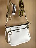 Женская сумка Zara (Зара), белая ( код: IBG214O ), фото 9