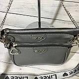 Женская сумка Zara (Зара), серебристая ( код: IBG214S ), фото 5