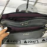 Женская сумка Zara (Зара), серебристая ( код: IBG214S ), фото 6