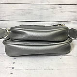 Женская сумка Zara (Зара), серебристая ( код: IBG214S ), фото 7