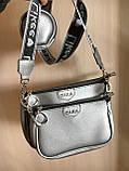 Женская сумка Zara (Зара), серебристая ( код: IBG214S ), фото 8