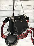 Женская сумка Zara (Зара), черная ( код: IBG214B ), фото 3