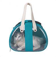 Сумка переноска прозрачная для домашних животных (кошек, собак, кроликов и др.) ( код: IBA014GL )