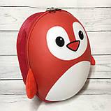 Рюкзак детский маленький, пингвин, цвет красный ( код: IBD003R ), фото 2