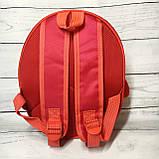 Рюкзак детский маленький, пингвин, цвет красный ( код: IBD003R ), фото 4